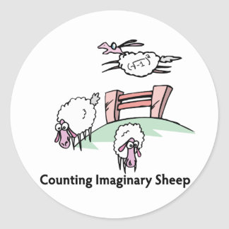 Counting Imaginary Sheep Classic Round Sticker