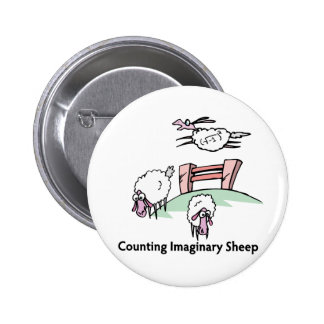 Counting Imaginary Sheep Pinback Button