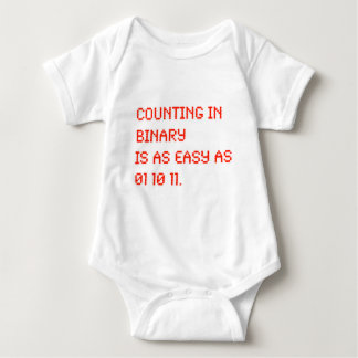 Counting in Binary Baby Bodysuit