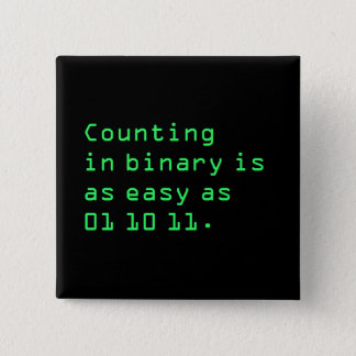 Counting in Binary Button