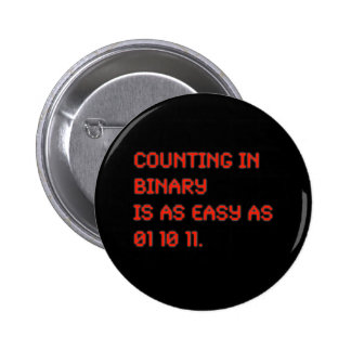 Counting in Binary Pinback Button