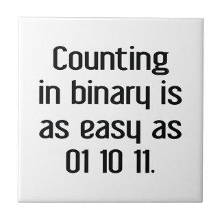 Counting In Binary Ceramic Tile