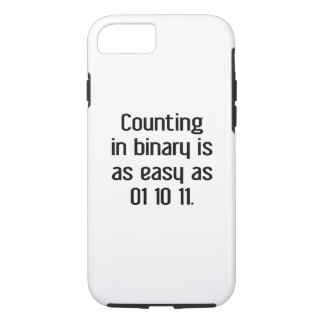 Counting In Binary iPhone 7 Case