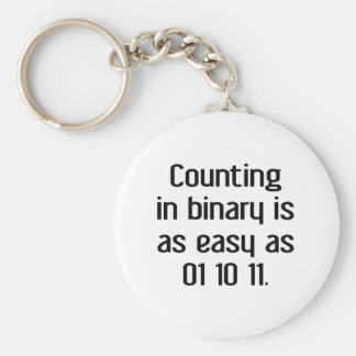 Counting In Binary Keychain