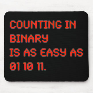 Counting in Binary Mouse Pad