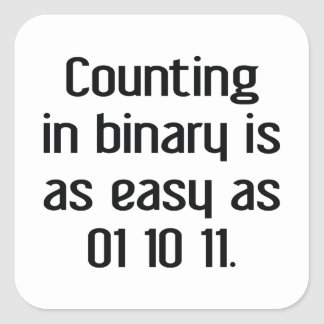 Counting In Binary Square Sticker