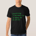 Counting in Binary T Shirt
