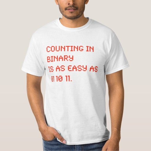 Counting in Binary Tee Shirts