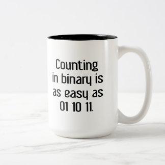 Counting In Binary Two-Tone Coffee Mug