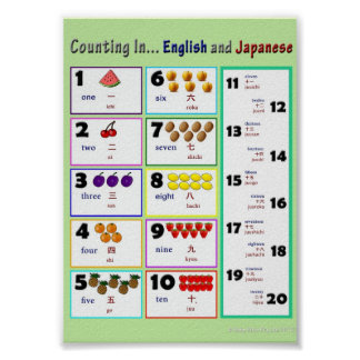 Counting In...English and Japanese Poster