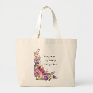 Counting my Blessings Large Tote Bag