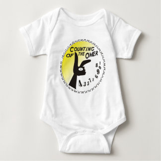 Counting of the Omer Baby Bodysuit