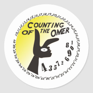 Counting of the Omer Classic Round Sticker