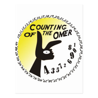 Counting of the Omer Postcard