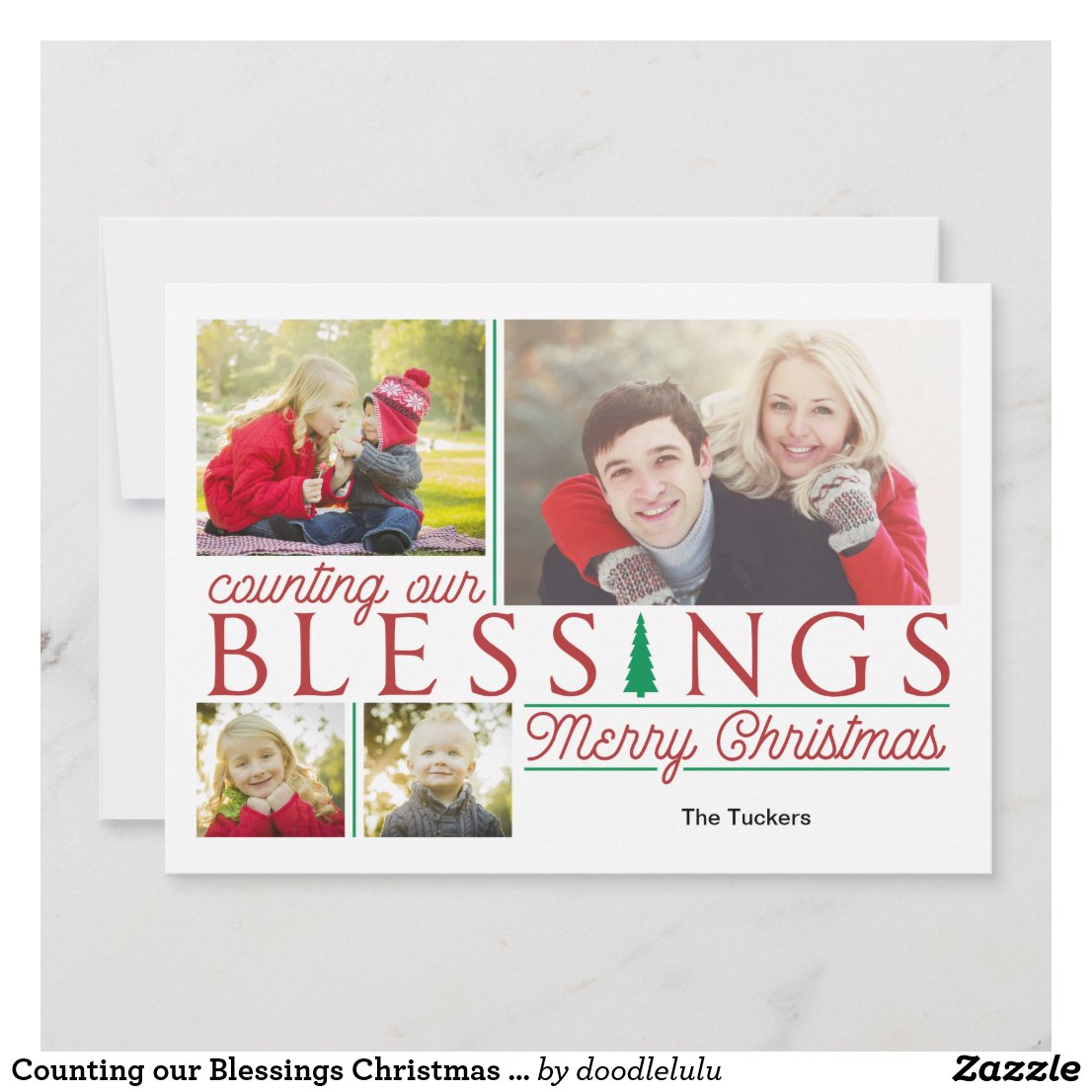 Counting our Blessings Christmas Photo Card