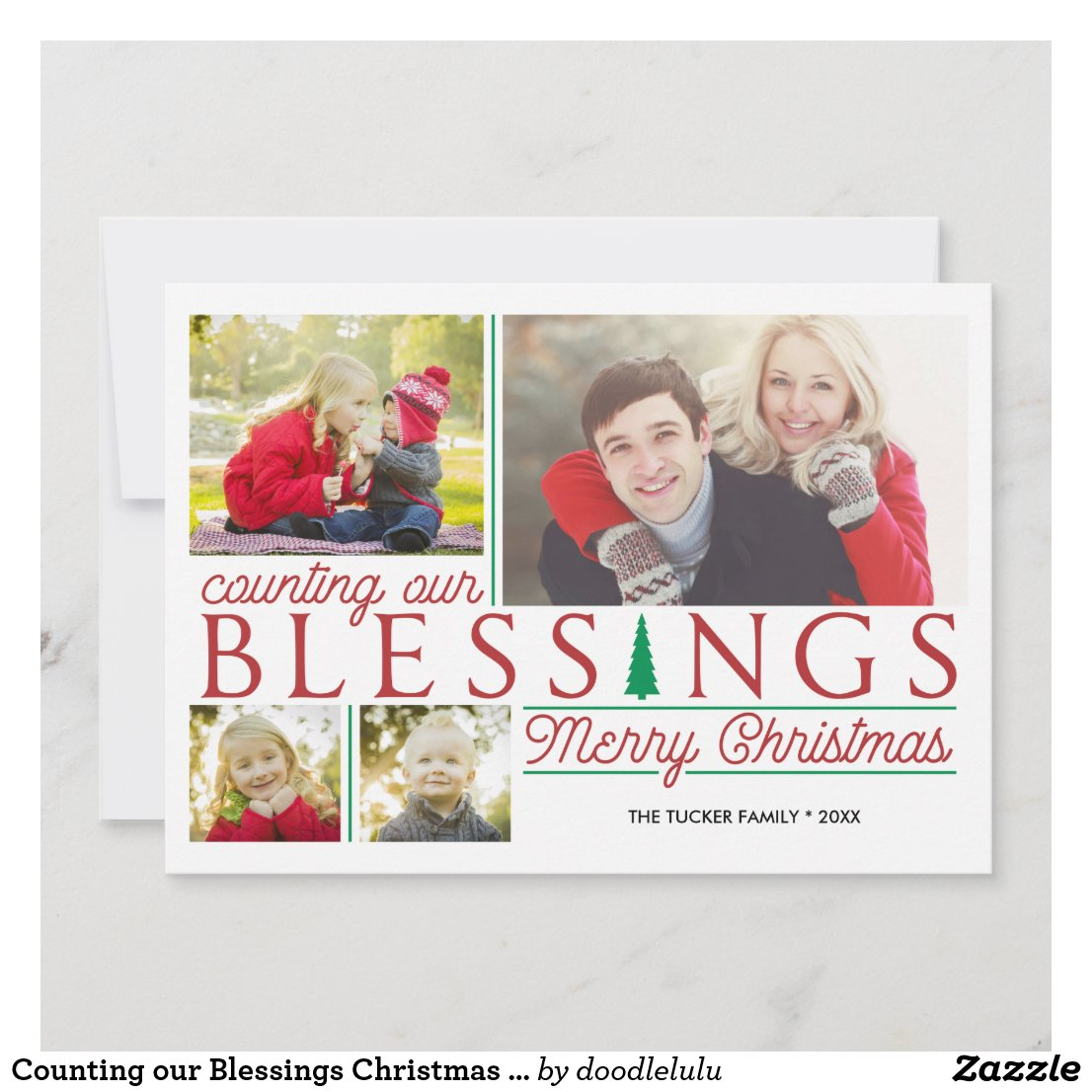 Counting our Blessings Christmas Photo Holiday Card