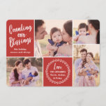 "Counting our Blessings Holiday Photo Card<br><div class=""desc"">Showcase your favorite photos with these modern styled holiday photo cards!  The background color can be customized to any color you&#39;d like.</div>"