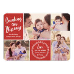 Counting Our Blessings Holiday Photo Card at Zazzle