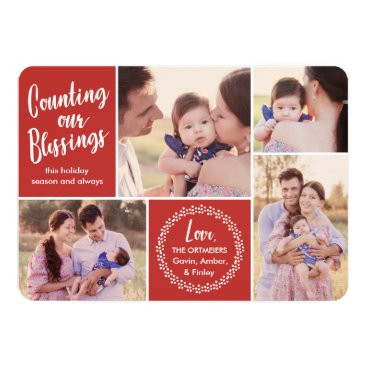 Christmas Themed Counting our Blessings Holiday Photo Card