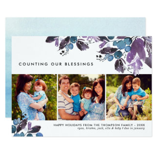 Counting Our Blessings | Multi-Photo Holiday Card
