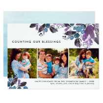 Counting Our Blessings | Winter Berry Photo Card