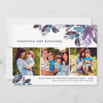 Counting Our Blessings | Winter Berry Photo Holiday Card