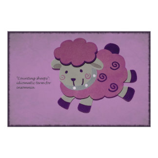 counting purple sheeps Poster
