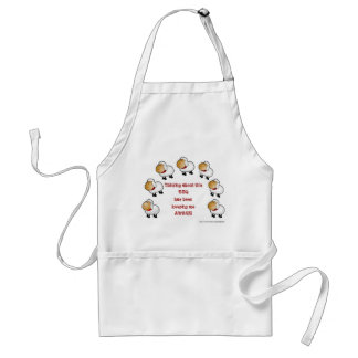 Counting sheep BBQ funny humorous Adult Apron