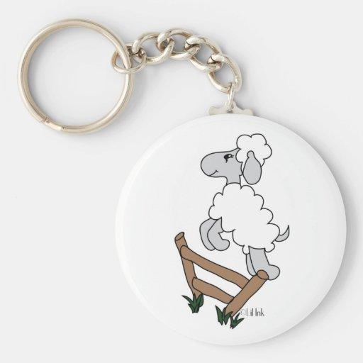 Counting Sheep Keychain