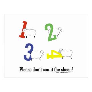 Counting Sheep Postcard