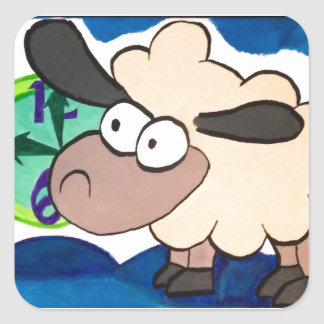 Counting Sheep Square Sticker