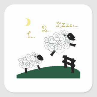 Counting Sheep Square Stickers