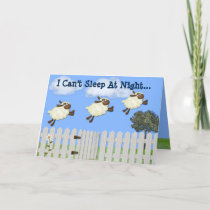 """Counting Sheep"" Thinking of You Greeting Card"