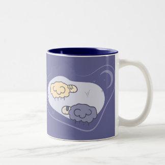 Counting Sheeps Two-Tone Coffee Mug