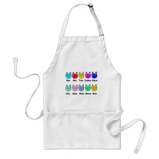 Counting Spanish Cats Adult Apron