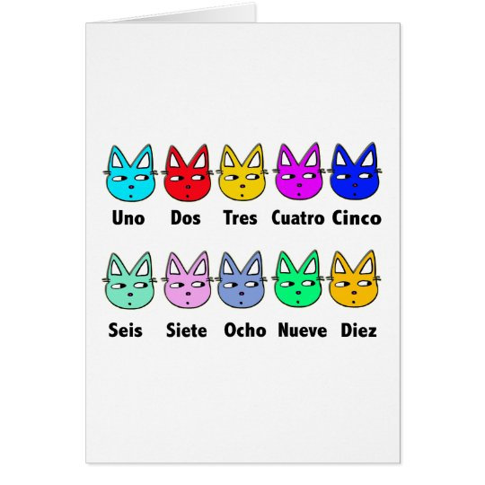Counting Spanish Cats Card