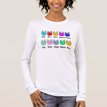 Toddler & Baby themed Counting Spanish Cats Long Sleeve T-Shirt