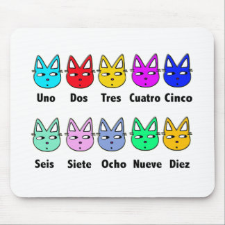 Counting Spanish Cats Mouse Pad