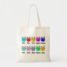 Counting Spanish Cats Tote Bag at Zazzle