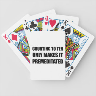 Counting Ten Premeditated Bicycle Playing Cards