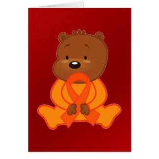 """""""Counting the Days"""" Teddy Bear and Ribbon Greeting Card"""