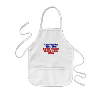 Counting the days until Barack Hussein Obama... Kids' Apron