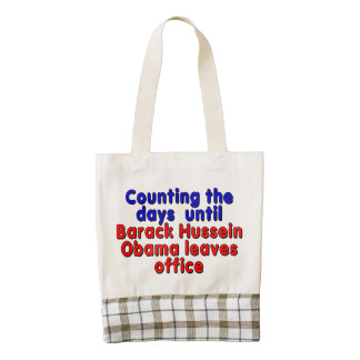 Counting the days until Barack Hussein Obama... Zazzle HEART Tote Bag