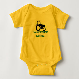 Counting Tractors Baby Bodysuit