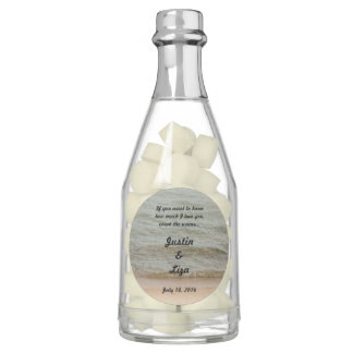 Counting Waves Champagne Bottle Favors Gum