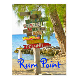 COUNTRIES OF WORLD/COLORFUL WOODEN SIGNS/RUM POINT POSTCARD