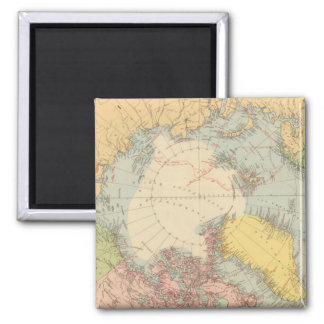 Countries round North Pole 2 Inch Square Magnet