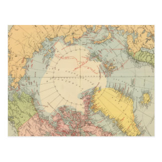 Countries round North Pole Postcard