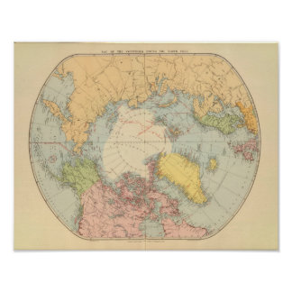 Countries round North Pole Poster