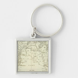 Countries Situated between Shiraz Key Chain